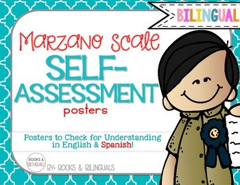 Marzano Levels of Understanding Posters {Bilingual} Berry Cool Theme