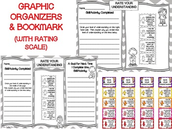 Marzano-Like Learning Rating Scale Set: POSTERS, GRAPHIC ORGANIZERS, & BOOKMARK