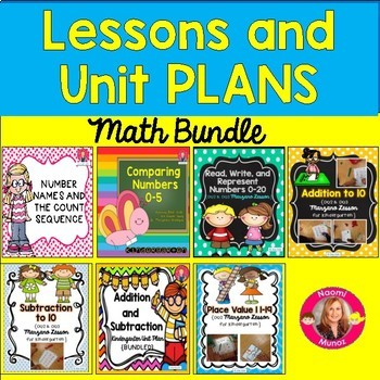 Marzano Math Lessons and Units BUNDLE for Kindergarten