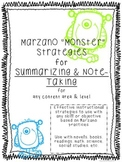 """Marzano """"Monster"""" Strategies for Summarizing and Note-Taking - all content areas"""