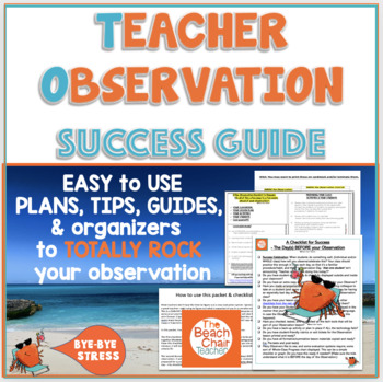 Teacher Observation + Evaluation Success Packet