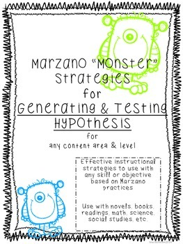 Marzano Questioning for Generating & Testing Hypothesis -all content areas