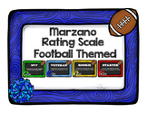 Marzano Rating Scale Football Theme