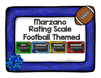 Marzano Rating Scale Football Theme
