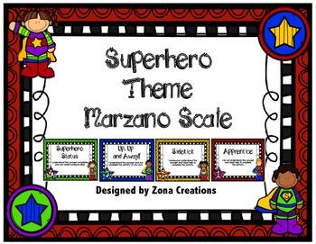Marzano Rating Scale Superhero Theme