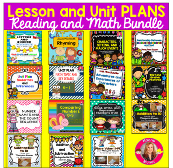 Reading and Math Lessons and Units BUNDLE for Kindergarten