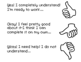 Marzano-Rubric- student's understanding- thumbs up, thumb middle, thumb down