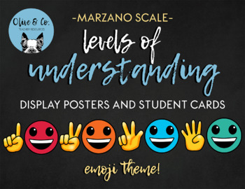 Marzano Scale Emoji Theme Level of Understanding Student Self Assessment Tool