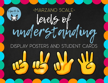 Marzano Scale Level of Understanding Student Self Assessment Tool