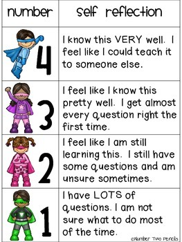Marzano Scale: Student Self Assessment [Superheroes}