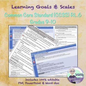Marzano Scale for Common Core Standard RL.9-10.6