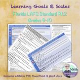 Marzano Scale for Florida LAFS Standard RI.910.1.2