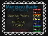 Marzano Scale of Understanding Posters