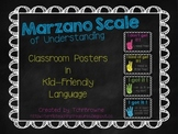 Marzano Scale of Understanding Posters -- Bright Colors