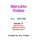 Marzano Scales CCSS Writing Grade 5