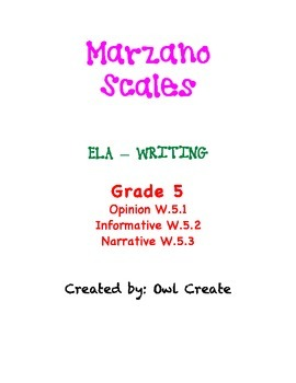 Marzano Scales CCSS Writing Grade 5
