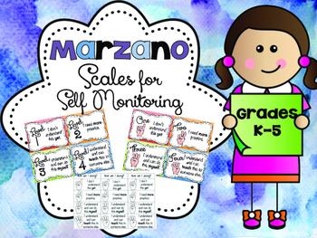 Marzano Scales for Self Monitoring