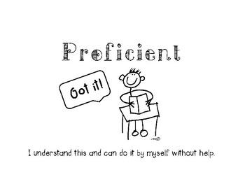 Marzano Self Assessment of Learning Folder Pockets