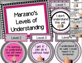 Marzano Self-Evaluation Scale (Pink and Gray)