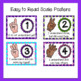Marzano Set of Learning Scale, Goal & Target Posters in Argyle Pattern