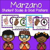 Marzano Learning Scale, Goal & Target Posters in Argyle Pattern