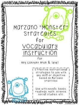 Marzano Strategies for Vocabulary -Vocabulary Log