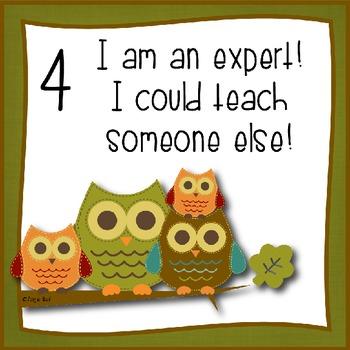 Marzano Student Scale - Owl Theme