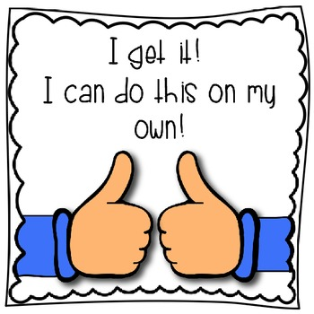 Marzano Student Scale - Thumbs Up/Down