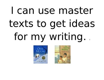 Marzano Target Skill Posters for Lucy Calkins' Narrative writing