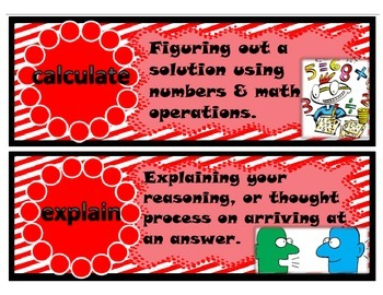 Common Core Verbs- Specific to Math