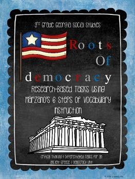 Democracy in Ancient Greece - Marzano Vocabulary Bundle: Georgia Social Studies