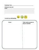 Marzano Vocabulary Binder Pages