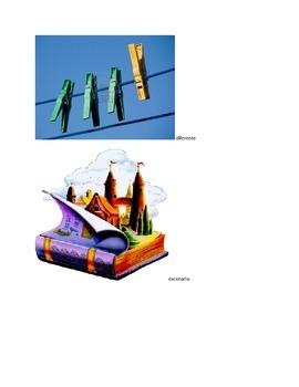 Marzano Vocabulary Binder- Spanish Kindergarten Language Arts Pictures/Terms