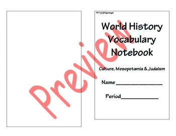 Marzano Vocabulary Notebook Journal - Editable for all Grades and Content Areas