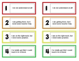 Marzano learning level cards