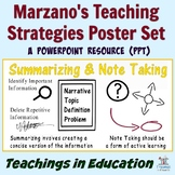 Marzano's Instructional Strategies (Poster Set)