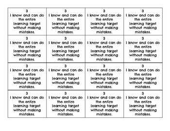 Marzano's Levels Flip Cards