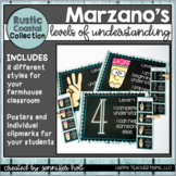 Marzano's Levels of Understanding (Rustic Coastal Farmhouse)