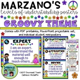 Marzano's Levels of Understanding Student Self-Assessment Posters: Groovy Theme