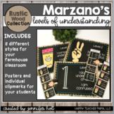 Marzano's Levels of Understanding (Farmhouse Rustic Wood)