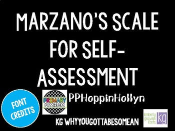 Marzano's Scale for Self-Assessment