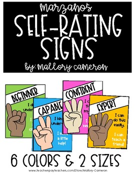 Marzano's Self Rate Signs