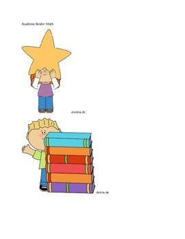 MarzanoAcademic Vocabulary Binder- Spanish Math Kindergart