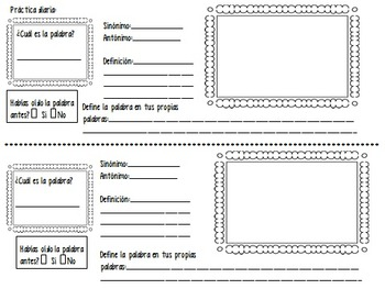 Marzano's 6-Step Process for Building Vocabulary in Spanish
