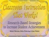Marzano's Classroom Instruction That Works Professional De