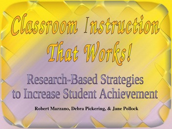 Marzano's Classroom Instruction That Works Professional De