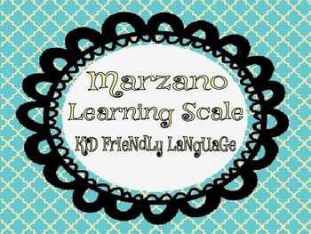 Marzano's Learning Scale
