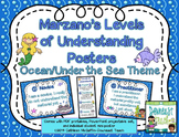 Marzano's Levels of Understanding Self-Assessment Posters: Under the Sea