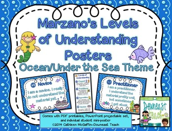 Marzano's Levels of Understanding Self-Assessment Posters: