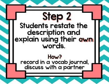 Marzano's Six-Step Process for Building Academic Vocabulary {Posters}
